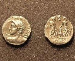 (RR-40) Denarius of Mn. Fonteius COPY Bonanza
