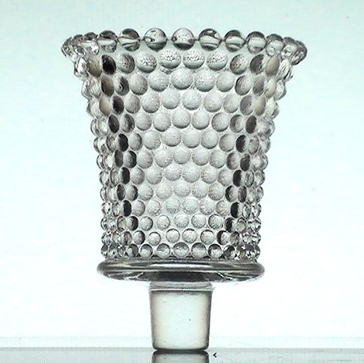 home interiors pegged votive candle cup glass hobnail