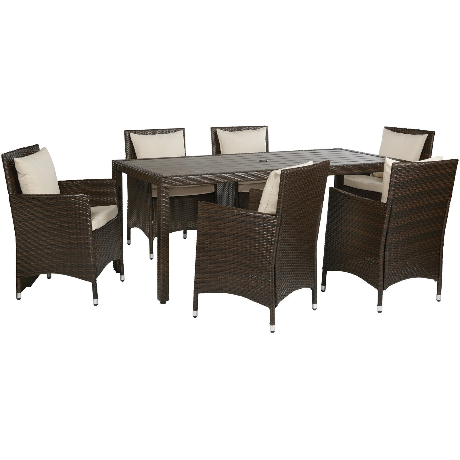 Nathaniel 7 Piece Dining Set with Cushions