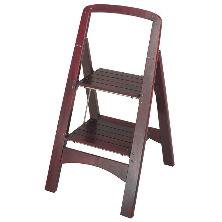 Folding 2 Step Stool Wood Vintage Ladder And 44 Similar Items
