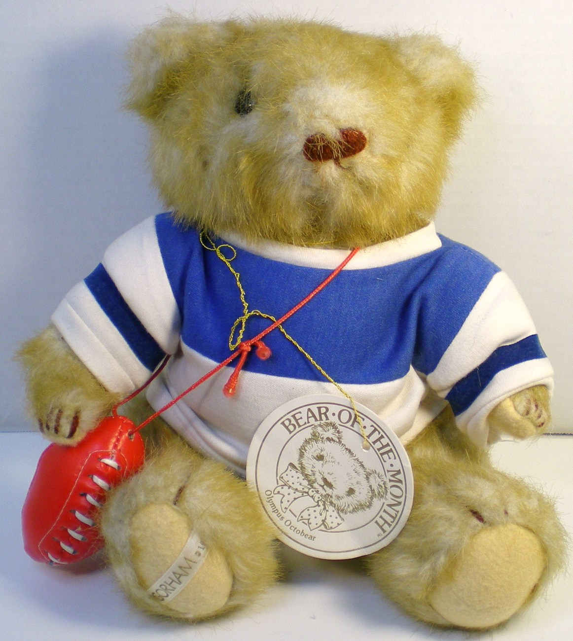 Gorham Teddy Bear of the Month Olympus Octobear 1984 for October