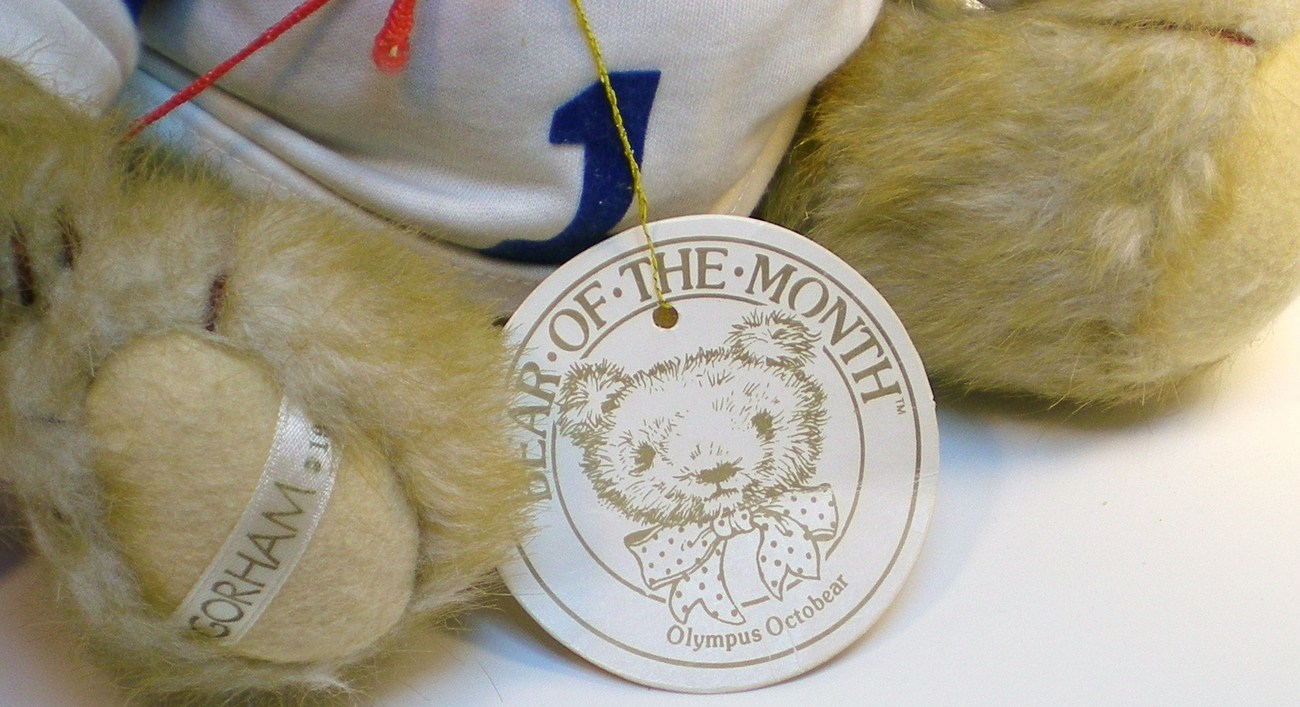 Image 4 of Gorham Teddy Bear of the Month Olympus Octobear 1984 for October