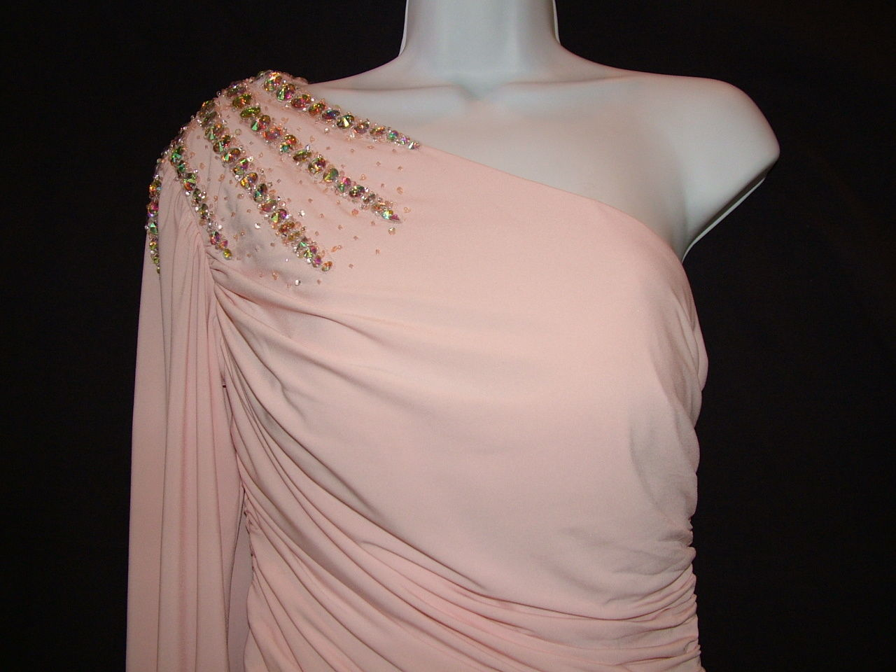 Image 2 of Chic Sexy Vienna Prom Short Powder Pink One Shoulder Beaded Party Dress ZH201 -
