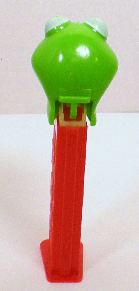 Image 2 of Kermit the Frog Pez Red bowtie 3.9 Hungary 1991 Discontinued