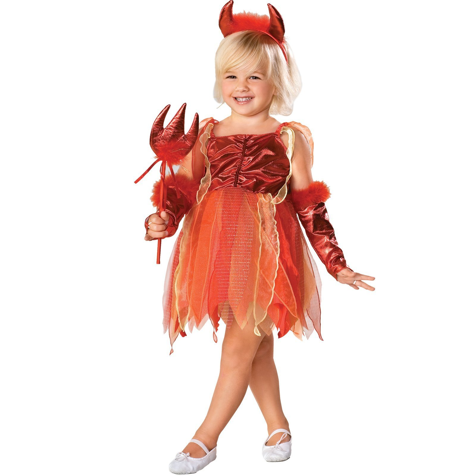 Image 0 of Rubies Red Orange Lil Devil Costume - Medium Child's 8-10