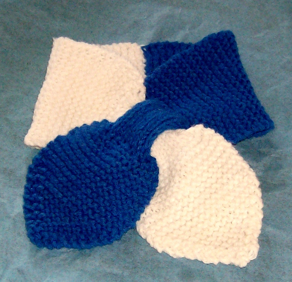 hand knitted school colors lotus leaf neck scarf easy care acrylic - Scarves ...