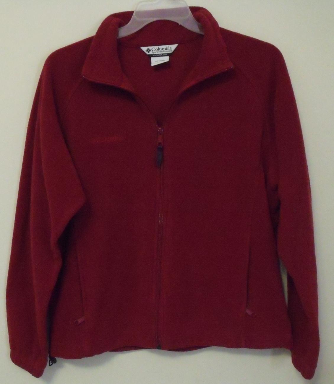 Columbia_red_fleece_jacket_xl