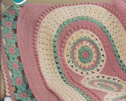 Carousels Afghan Crochet Pattern~Annies and 50 similar items