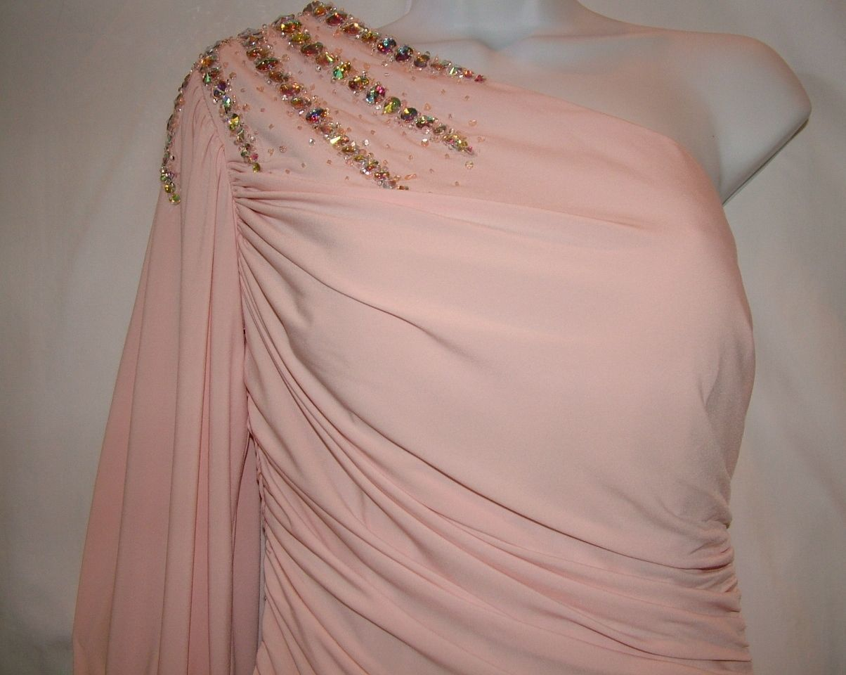Image 5 of Chic Sexy Vienna Prom Short Powder Pink One Shoulder Beaded Party Dress ZH201 -
