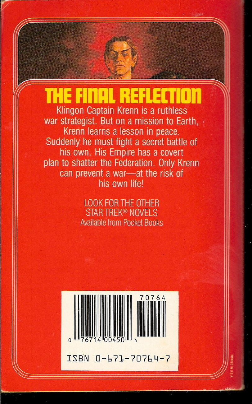 Image 1 of Final Reflection Star Trek TOS 16 by John M.Ford PB 1990