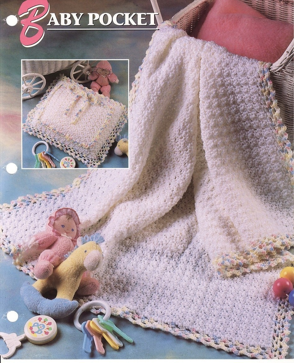 Baby Pocket Afghan & Pillow Crochet Pattern Annies Attic