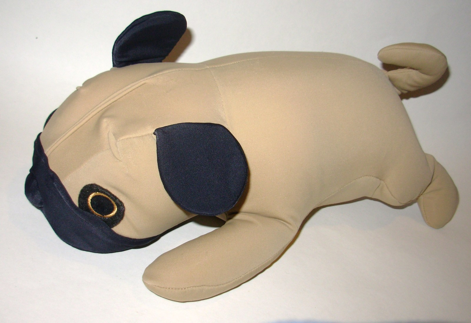 Mogu Dog Pug Puppy Plush Microbead Pillow Stuffed Animal Tan Brown