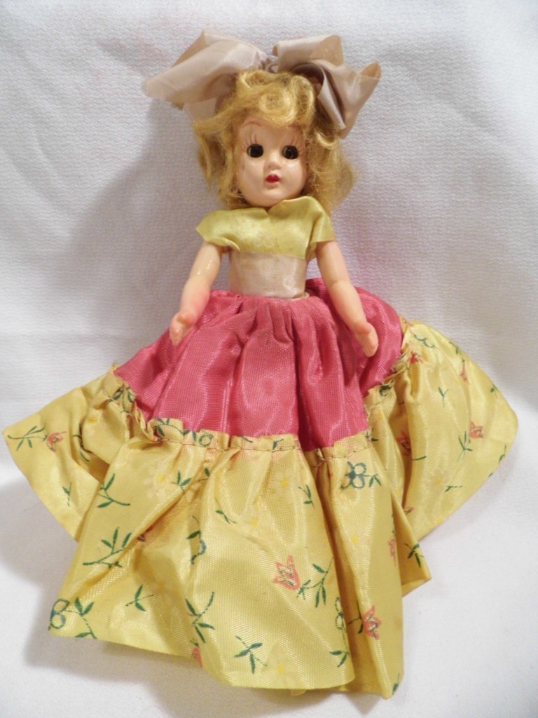 "vintage 5 1/2"" blonde DOLL baby w/ moveable parts"