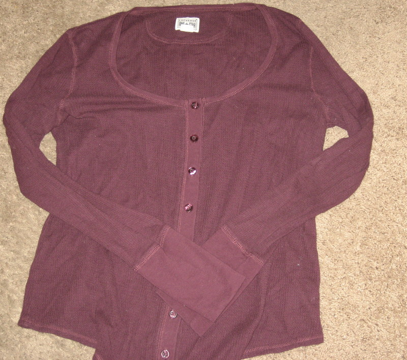 Converse Long John Maroon Long Sleeve Top XL
