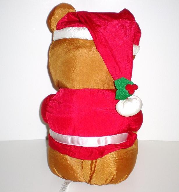 Image 2 of Santa Country Bear 1992 Fingerhut Holiday Teddy Bear