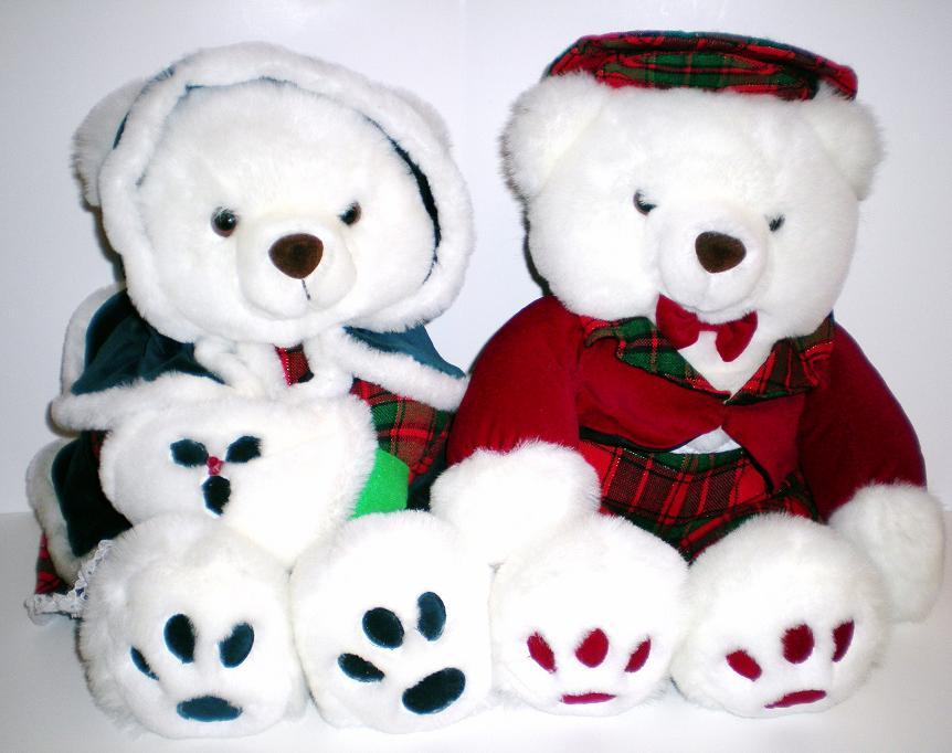 Christmas Bears The Lord and Lady Bear, Kids of America 1992