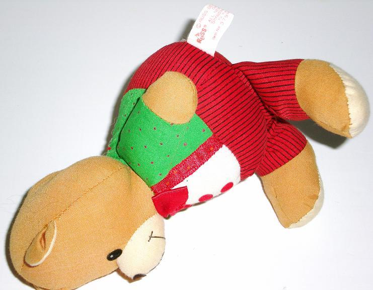 Image 2 of Russ Berrie Christmas Bear 1993 decoration
