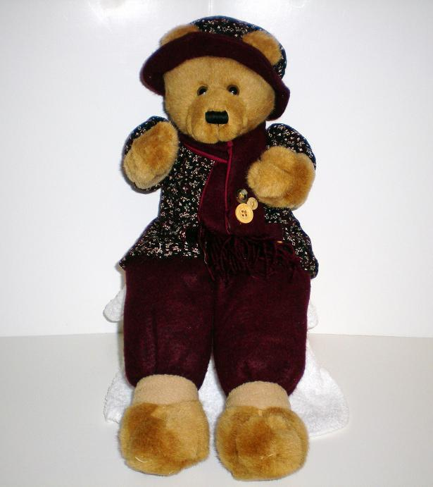 Graceful Lady Sitting shelf Teddy Bear 2001