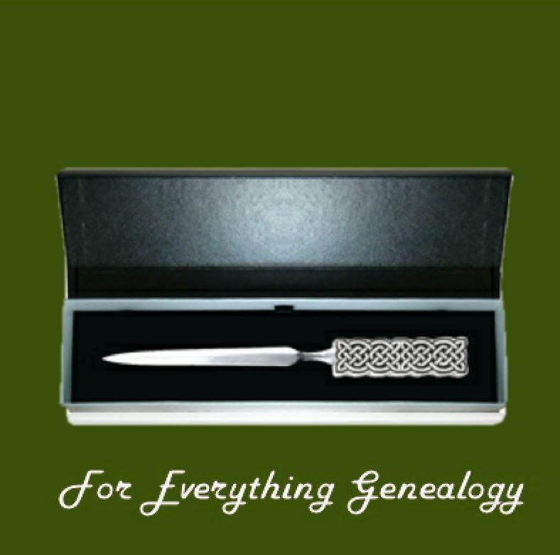 Celtic Endless Knotwork Gift Boxed Stylish Pewter Letter Opener