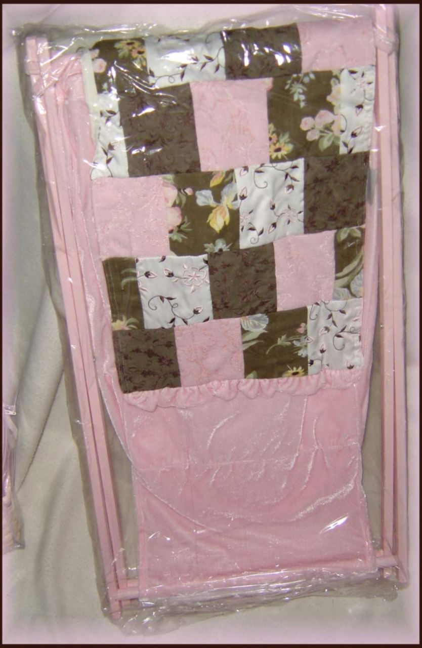 Wendy Bellissimo-FLORAL PATCHWORK-Laundry Hamper NEW