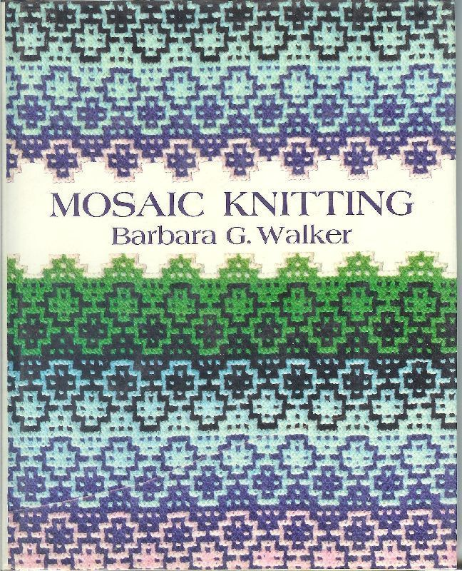 Mosaic Knitting BG Walker Pattern Charts Photos Knit Poncho Sweater 1976 HC -...