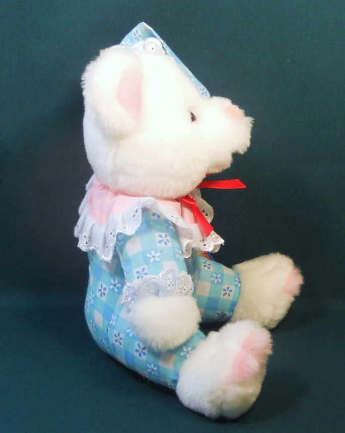 Image 1 of King Plush baby teddy bear cloth body white plush 2002