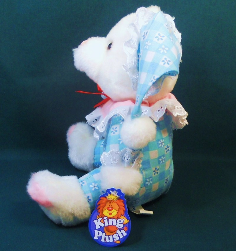 Image 3 of King Plush baby teddy bear cloth body white plush 2002
