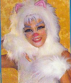 CAT HEADPIECE & MITTS GREAT FOR CATS LOOK WHITE Bonanza