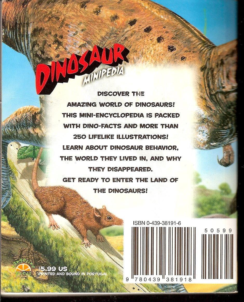 Image 1 of Dinosaur Minipedia by Jinny Johnson PB pocket encyclopedia 2002 children