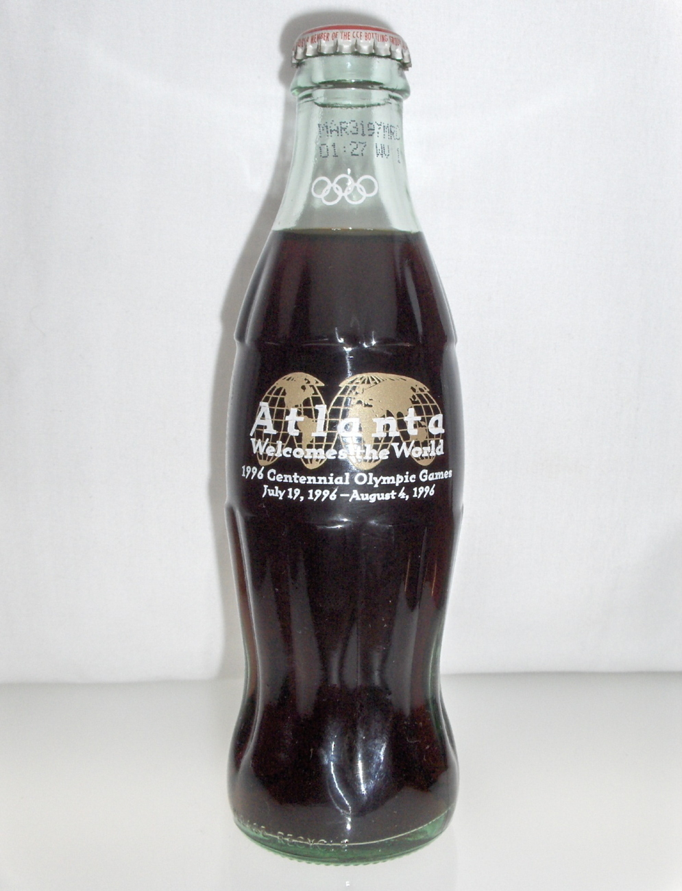 Atlanta 1996 Centennial Olympic Games Coca Cola coke Bottle