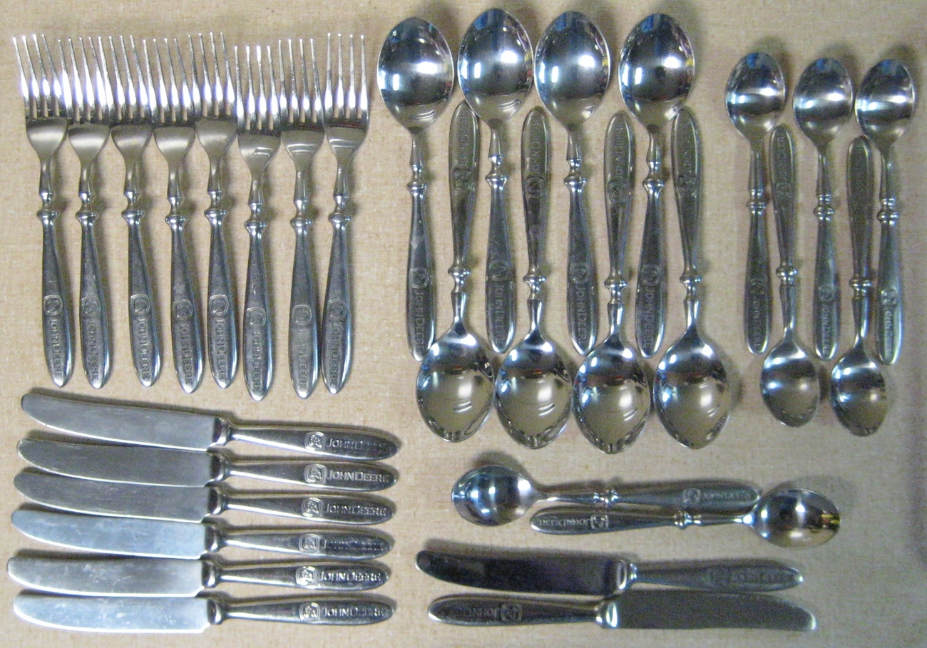 John Deere Stainless  Flatware Silverware Set