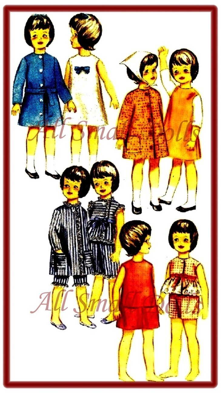 Vintage Doll Clothing Pattern for 9 1/2