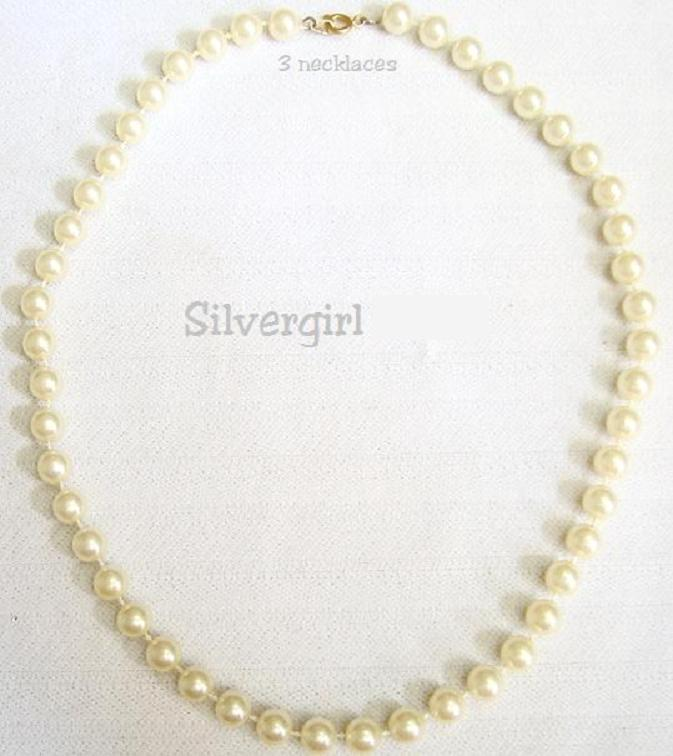 Vintage Imitation Pearl Gold Tone Beaded Necklace unknown