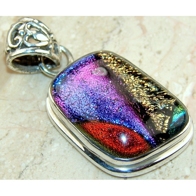 Wholesale Sterling Silver & Dichroic Art Glass Pendant in Varied Forms