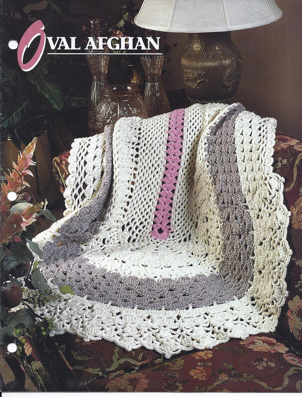 Crochet Afghan Patterns Quilt : RARE~Oval Afghan Crochet Pattern~Annies Quilt & Afghan ...