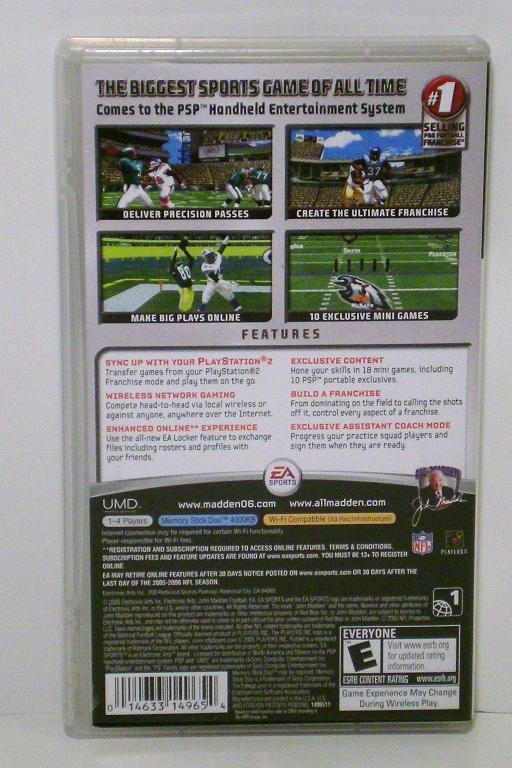 Image 1 of Madden NFL 06 by Electronic Arts 2006 Sony PSP