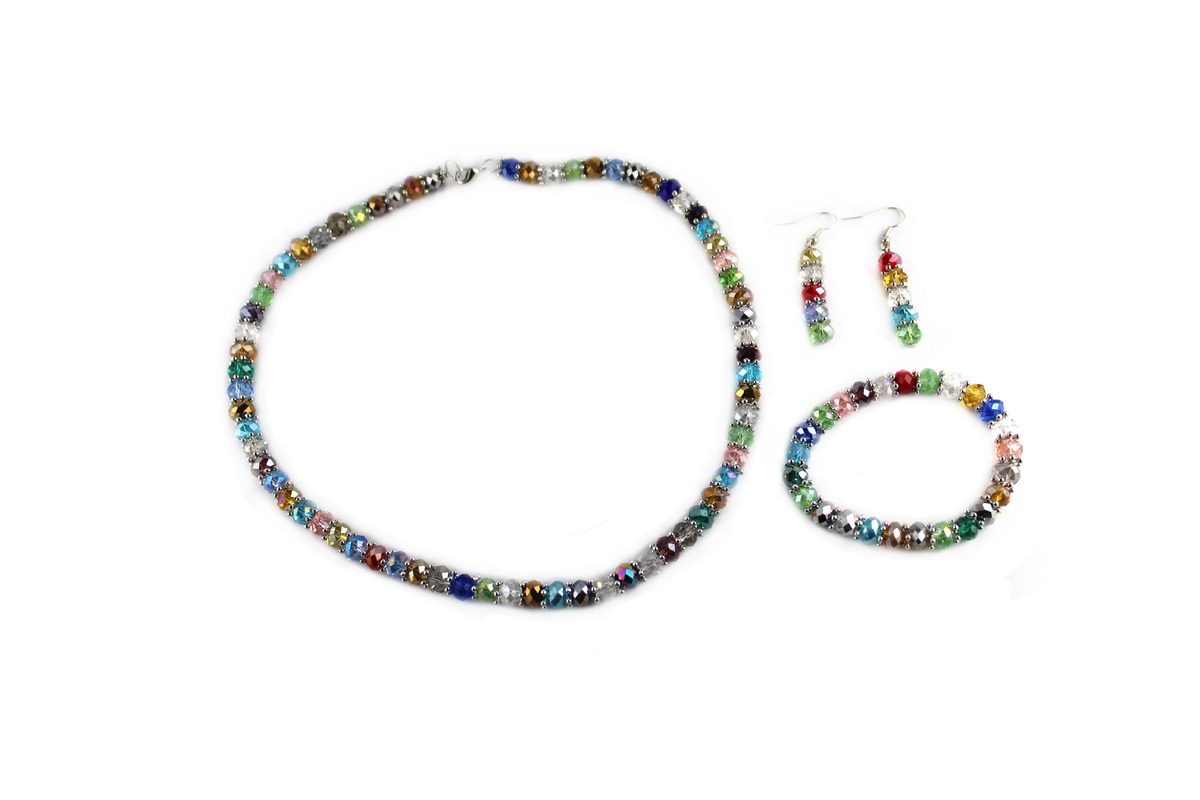 Royal Jewelry Set in Multi-Color Crystal
