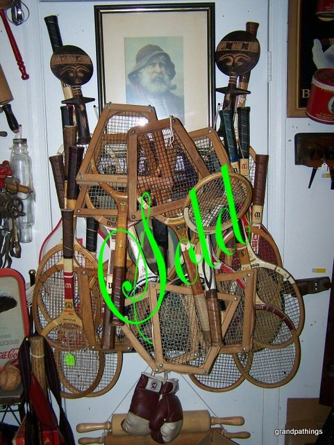 wooden Tennis Racquets & Press Lot of 20 Old Rackets