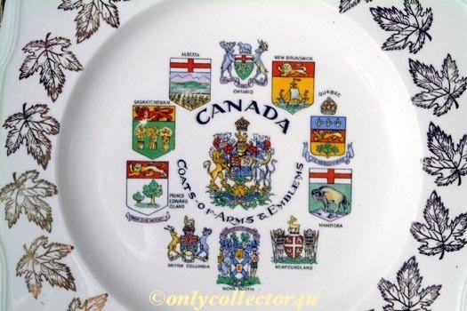 Canada Plate- Coats of Arms & Emblems! Pristine! Bonanza