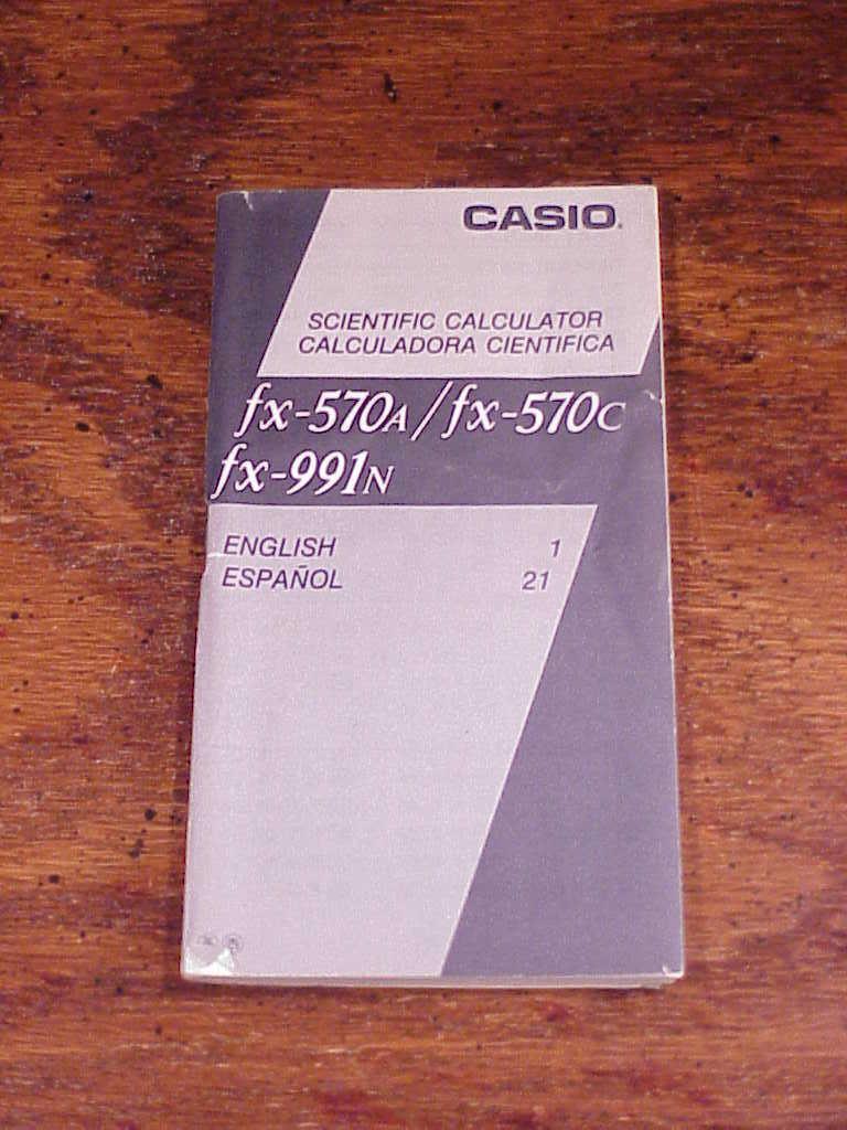 Casio fx-451 manual.