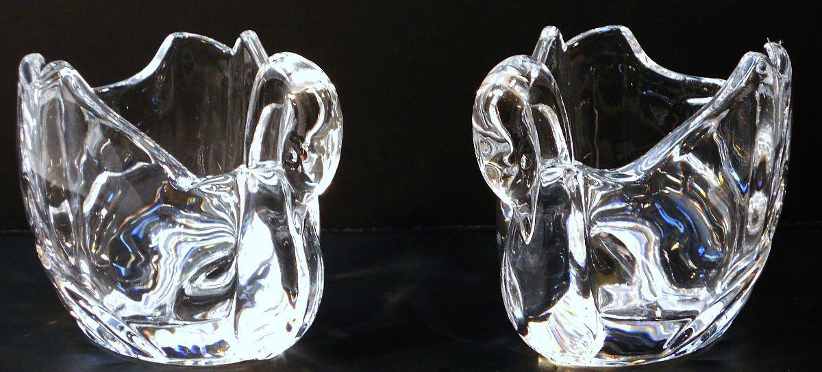 Image 3 of Crystal Swan Votives Shannon by Godinger Set of 2