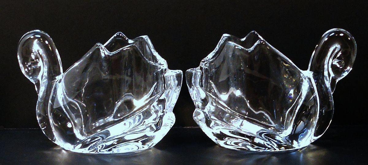 Image 4 of Crystal Swan Votives Shannon by Godinger Set of 2