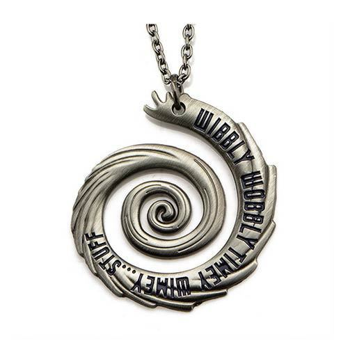 Image 1 of Doctor Who Wibbly Wobbly Timey Wimey Pendant Unisex Necklace 18