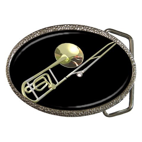 TROMBONE MUSICAL INSTRUMENTS ORCHESTRA BELT BUCKLE