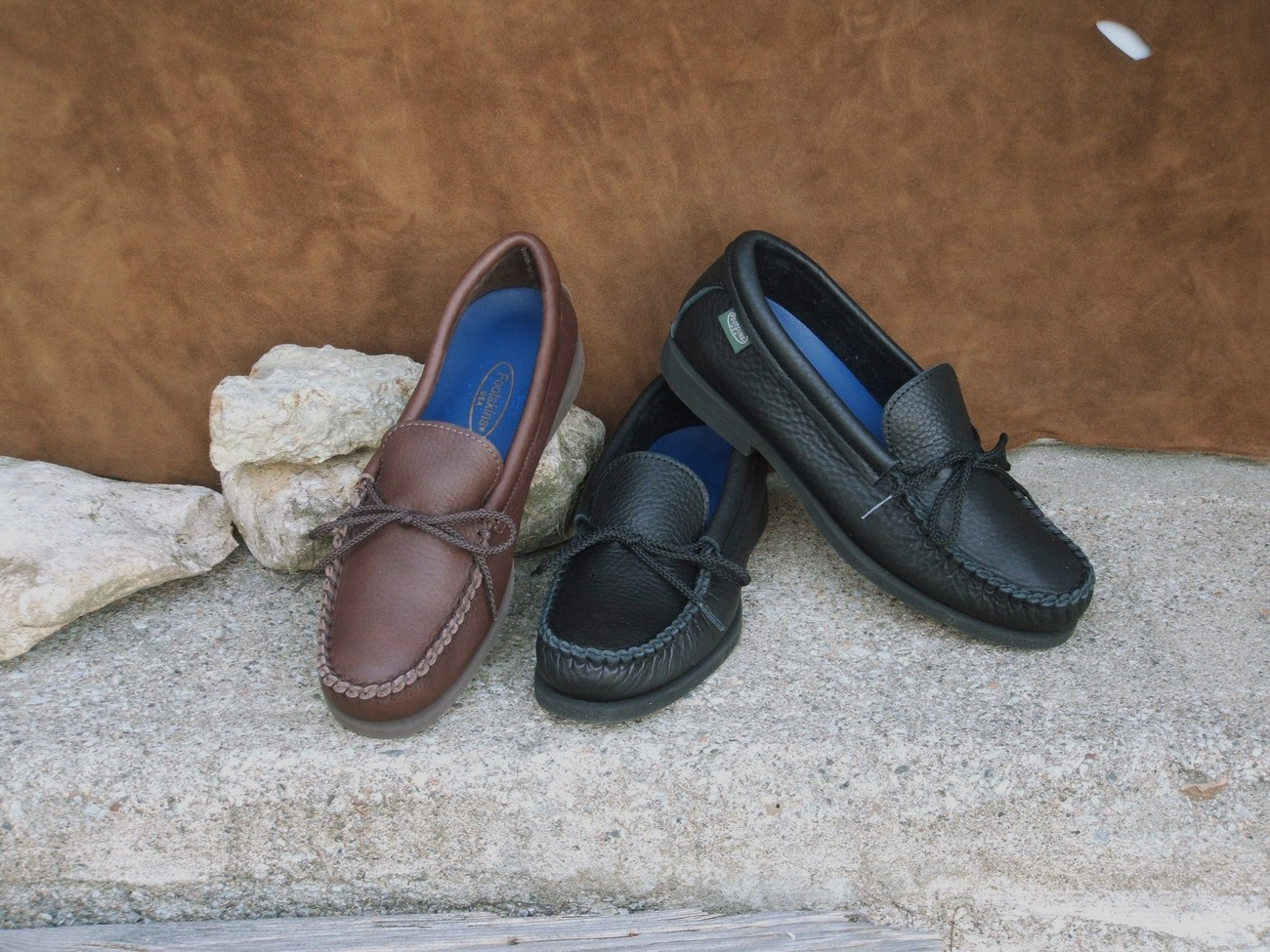 Mens Cowhide Shoes Italian Crepe Soles Cushion Insoles Made in USA Bonanza