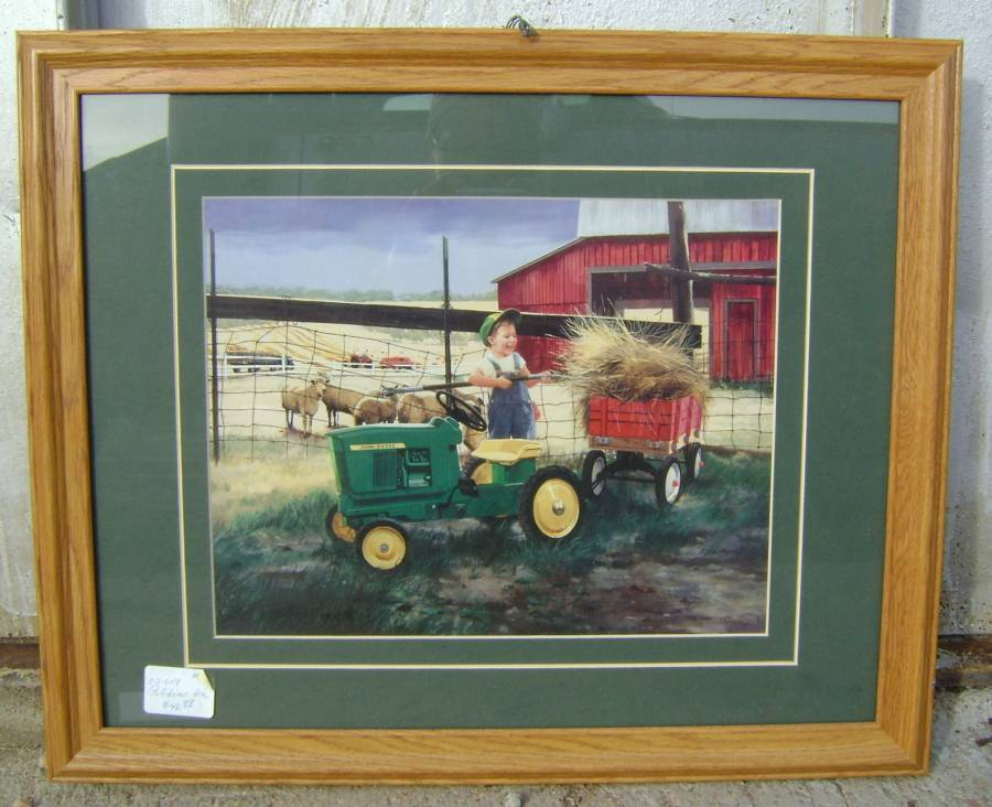 John Deere Home Decor : John deere framed art quot pitchin in home décor
