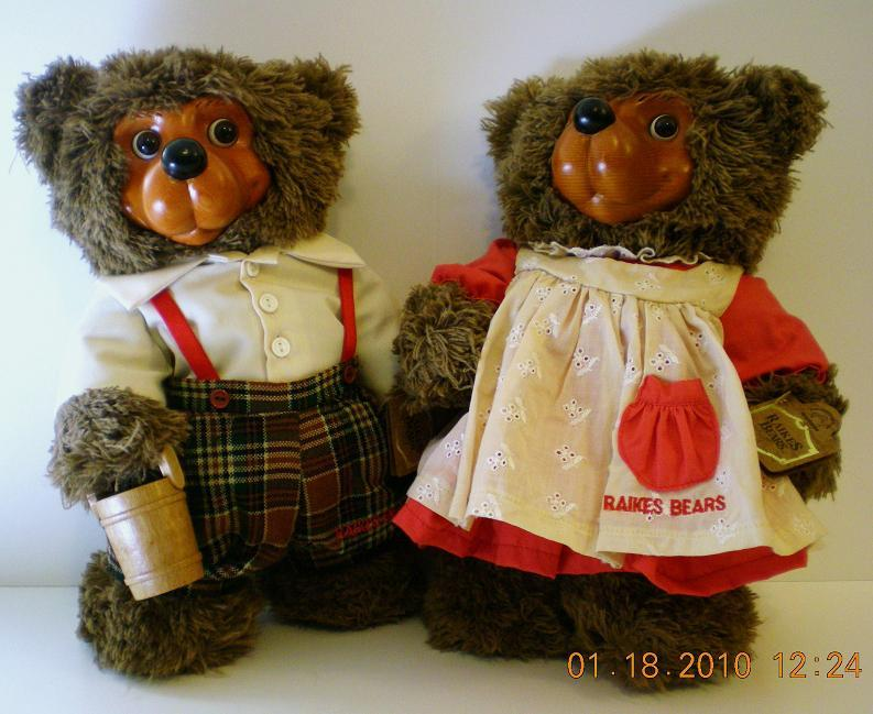 Robert Raikes Bears Jack and Jill, 1995 COA