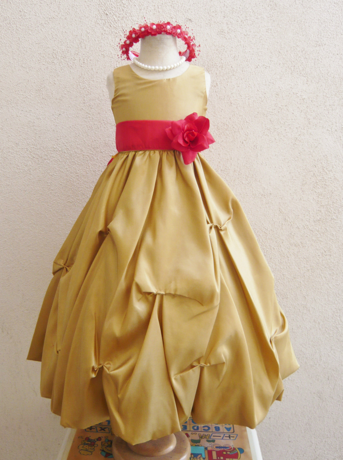 Flower Girl Dresses Red And Gold Amore Wedding Dresses