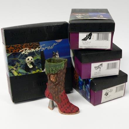 Just the Right 4 Shoes Raine Forest Endangered Species-Bear-Panther-Owl-Wolf NWF