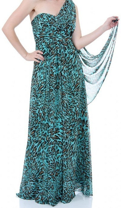 Leopard Printed Maxi Dress